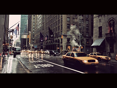 Rainy Day in New York ([~Bryan~]) Tags: street city nyc urban usa newyork rain day rainyday manhattan taxi cinematic