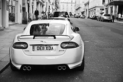 XKR-S. | explored | (Jurriaan Vogel) Tags: auto street uk england urban bw white black london english cars sports car sport ian photography nikon automobile dof britain 5 frankfurt united tata great fast kingdom grand august s automotive super motors explore exotic r 1750 gran british 16 jaguar gt 69 tamron turismo fr luxury coupe exclusive supercar v8 callum v10 coup aluminium vogel sportscar v12 xkr tourer d60 xk monocoque gt5 jurriaan ldn 2011 xk8 xjr explored xkrs worldcars