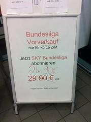 Sky Bundesliga Vorverkauf: 24,90 Euro