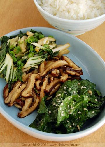 Raw Namuls and Veggie Side Dish
