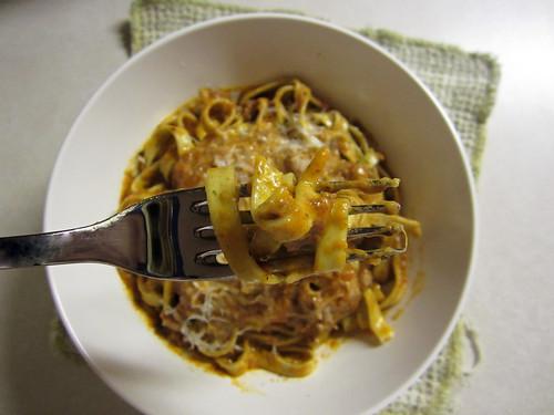 bite of pasta