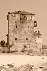 The old tower (maska_29) Tags: old tower greece chalkidiki   ouranoupoli centralmacedonia     ringexcellence blinkagain