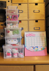 A wet day in August with nothing much to do but sort out some more Hello Kitty items....... (Jay Tilston) Tags: hello kitty storage sanrio calender boxes really useful