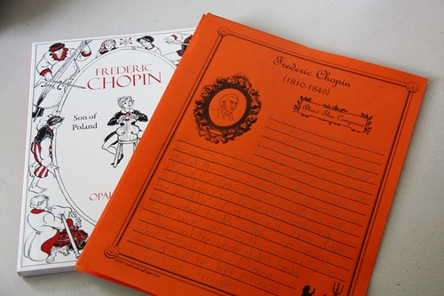 chopin book and notebooking page