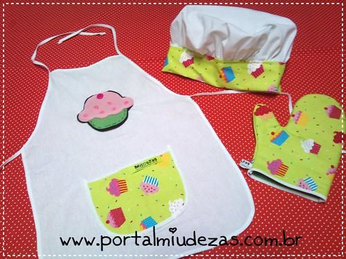 Kit Cheff Cupcake Verde by miudezas_miudezas