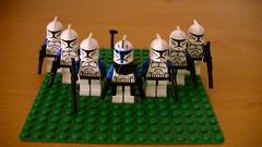 My 501st Legion's getting bigger ! (FrenchLegoBoy) Tags: starwars fight lego battle troopers lotr clones lordoftherings cody base legostarwars legion moc batallion tcw 501stlegion theclonewars captainrex clonebase legolotr droidbase