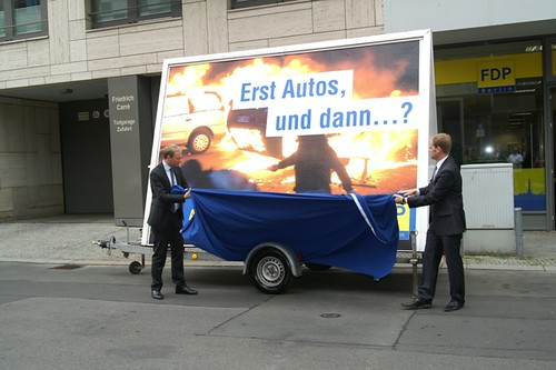 Plakat-Präsentation in Berlin
