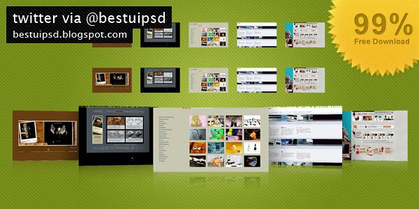 50 Essential Web Template PSD Layout Free