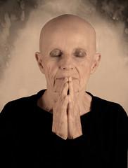 Whisper (halelinda) Tags: portrait woman texture lady prayer cancer profoto strobist survisor nikonfickraward artwithinportraits