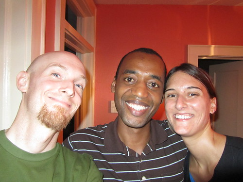 Chris with Christine and Bereket