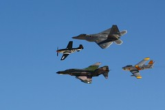 P-51, F-4, F-22, F-86 Heritage Flight@Aviation Nation 2010, Las Vegas, NV (Jet A-1 Photography) Tags: heritage force aviation air nation flight sabre raptor f22 mustang phantom usaf f4 afb p51 f86 nellis