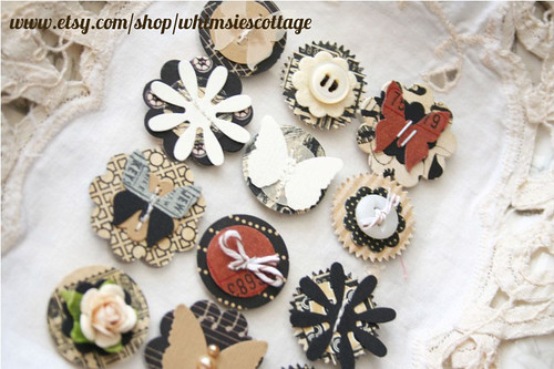 handmade layered embellishments