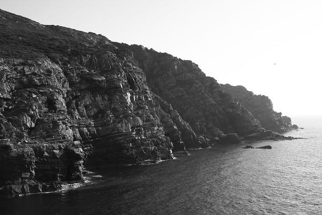 The rocky coastline at Capo del Falcone, northwestern Sardinia...