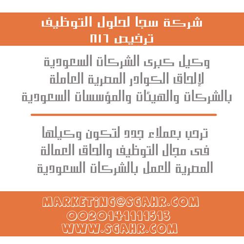 شركة سجا للتوظيف وكيل كبرى الشركات السعودية فى مصر 6075104398_712091b064