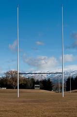 Molyneux Park Alexandra (*Jilltoo) Tags: winter newzealand snow mountains sports rugby alexandra nz getty otago centralotago goalpost sportsfield
