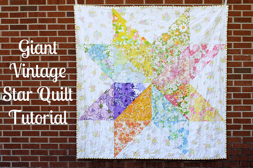 Colorful Star Quilt Against Brick Background