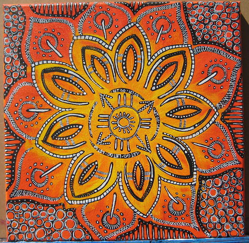 611 Let Go: Original Mantra Mandala Painting Transformative Art
