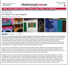 ric Dupuis : A pie por Cartagena (Eric Dupuis) Tags: canada photography photo newspaper eric colombia published photographie quebec montreal journal july juillet cartagena eluniversal dupuis publi colombie 2011 ericdupuis cartagenadeindias cartagne ricdupuis