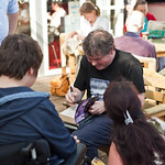 Darren Shan with fans