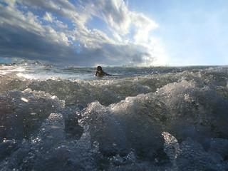 Body Surfing - Lake Michigan