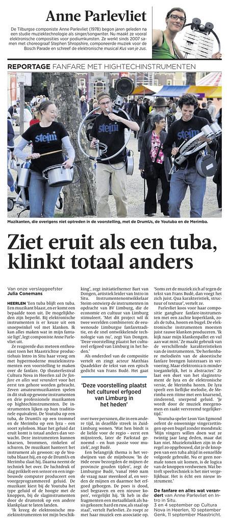 STEIM Fanfare instruments Volkskrant article