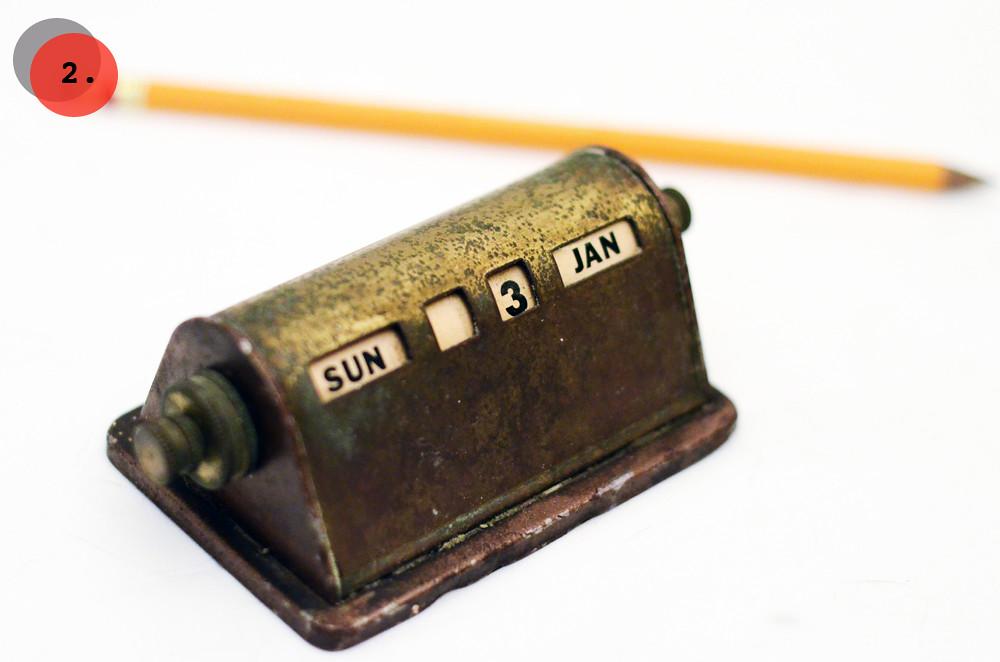 Vintage Brass Perpetual Calendar