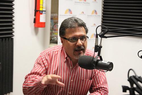 Fernando Cáceres en la rueda de prensa.