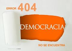 ERROR 404 DEMOCRACIA NO SE ENCUENTRA