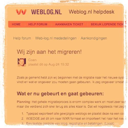 Web-log.nl is aan het migreren!