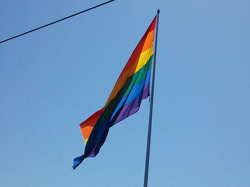 Bandera gay a Castro a San Francisco