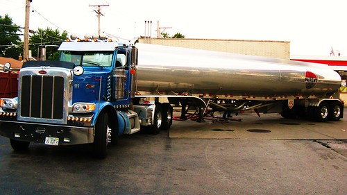 A fuel delivery at a local Citgo gasoline station. Elmwood Park Illinois USA. August 2011. by Eddie from Chicago