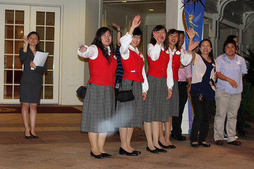 Our VIP Guides wave us goodbye