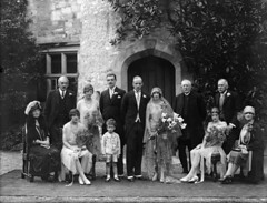 August 29, 1928 (National Library of Ireland on The Commons) Tags: family 1920s ireland party groom bride august bouquet weddings gown generations 1928 waterford penrose lismore glassnegative lismorecastle nationallibraryofireland ahpoole poolecollection arthurhenripoole
