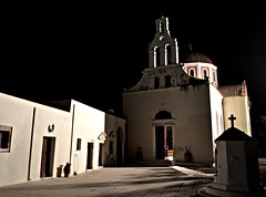 (Eleanna Kounoupa (Melissa)) Tags: church night doors steeple monastery     arsanas  greececreterethymnon