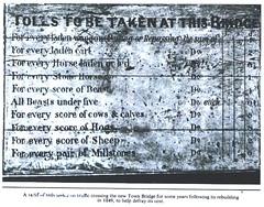 Tolls StamfordTown Bridge 1849