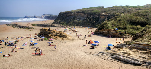 Cantabria. Spain. Liencres beach. Playa de Liencres.