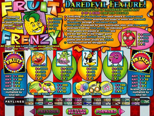 Fruit Frenzy Slots Payout