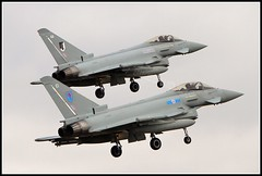 A PAIR OF TYPHOONS (MANX NORTON) Tags: shadow king hawk air tiger transport jet fast islander ami planes eurofighter vip r1 jaguar f3 boeing tornado usaf baf beech trainer typhoon raf nato sentinel gaf 125 sentry nimrod tucano b200 qinetiq riat awacs eda fightertown cranwell alphajet gr4 dominie coningsby hs125 e3b e3a 3sq 17sq qra 11sqn hs146 fraf 3fts 29sq 32sq 6sq 41sq leucharsraf r1bae 41sqaircraft