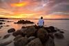 epic sunset (Jazpar) Tags: sunset landscapes fisherman singapore rocks seascapes goldenlight waterscapes punggolbeach leefilters epiclight