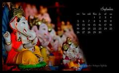 September 2011 (Soham Sabnis) Tags: festival calendar pune ganapati bappa moraya