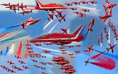 "A TRIBUTE TO FLIGHT LIEUTENANT JON EGGING ""RED 4"" (Eddie Evans) Tags: arrows reds redarrows hawks redarrow hawkjets"