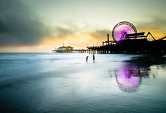 Santa Monica Sunset Part 5 (California CPA) Tags: california santa sunset party beach colors wheel lumix noche pier los long exposure fiesta angeles santamonica playa ferris symmetry panasonic filter nd faire g3 density ruleof3rds neutral complimentary ruleofthirds x8 olypmus nx400 918mm dmcg3