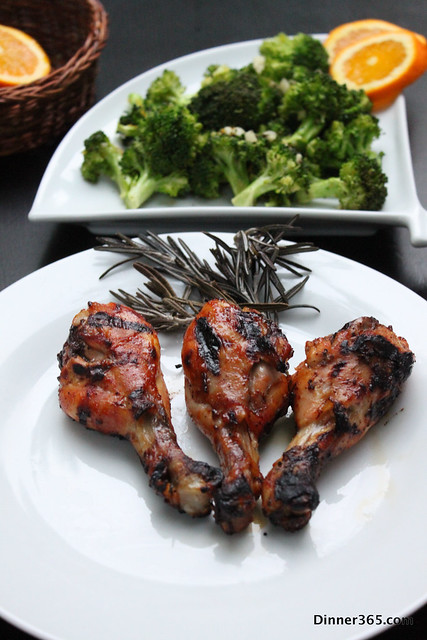 Day 245 - Grilled Rosemary Chicken and Orange Broccoli