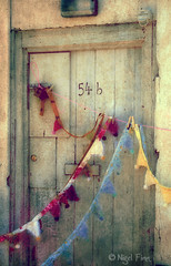 Party At 54b (Manin The Moon) Tags: door wood texture vintage market decoration flags dorset stmichaels bridport bunting