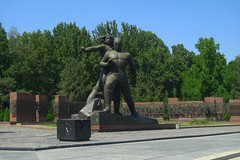Memorial for the earthquake that leveled Tashkent in 1966