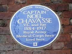 Photo of Noel Chavasse blue plaque