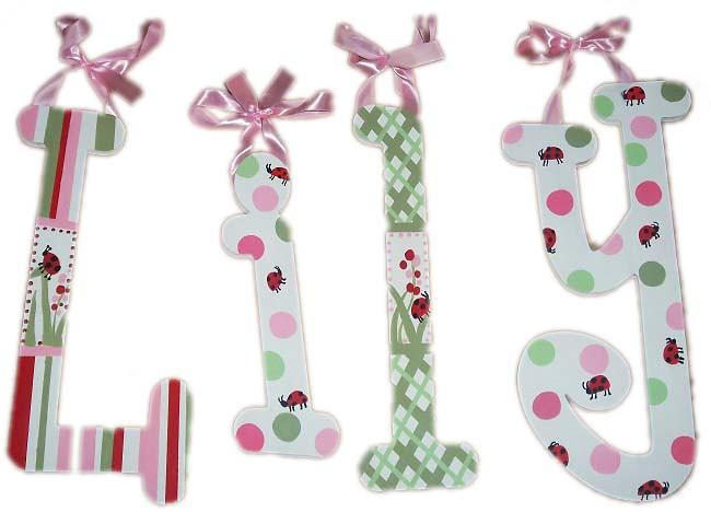 Migi Ladybug Nursery Letters