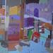 INTERIOR DE UNA TIENDA DE ALFONBRAS . 38 x46