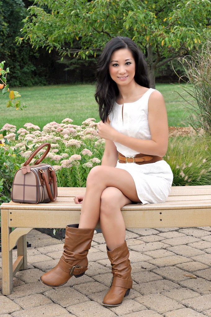 Dress and boots summer