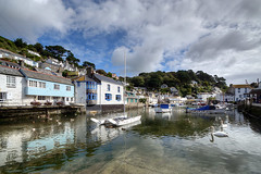 Reflections at Polperro (rosiespoonerphotos) Tags: uk sea england seascape water clouds reflections boats photography coast nikon cornwall photos harbour swans hdr polperro gettyimages westcountry photomatix tonemapped devonandcornwall d5000 rosiesphotos nikond5000 tamronspaf1024mmf3545diiildasphericalif riverpol rosiespooner rosyrosie2009 rosemaryspooner rosiespoonerphotography